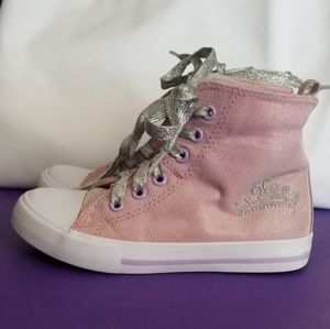 Girl's Disney Princess High Top Sneakers Size 11